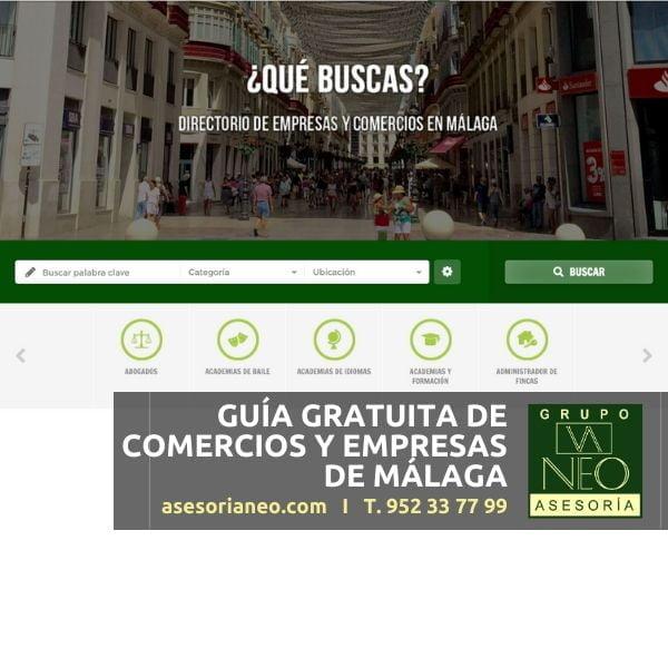 Guía gratuita de comercios y empresas de Málaga