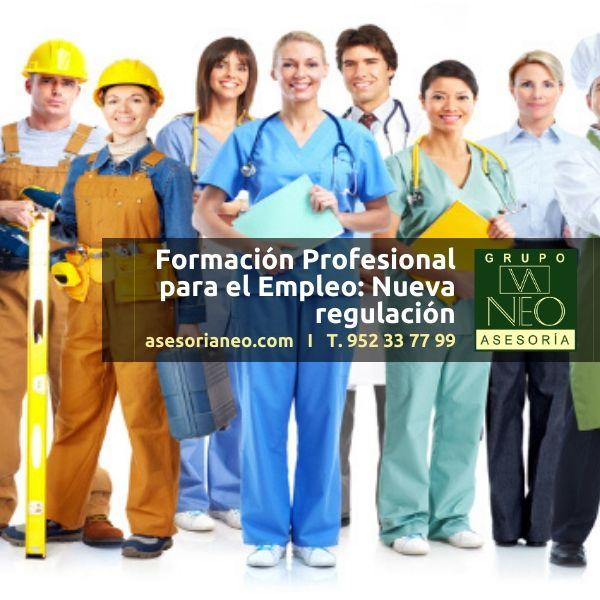 Formación Profesional para el Empleo: Nueva regulación