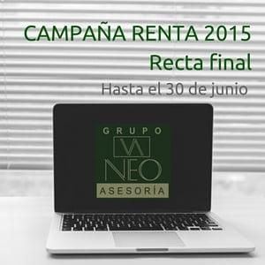 Campaña Renta 2015: Recta final