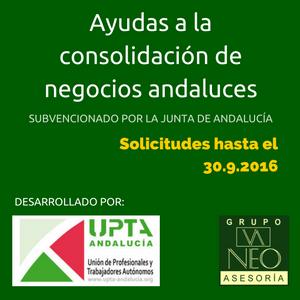 Ayudas a la consolidación de los negocios andaluces UPTA-Andalucía