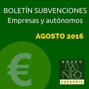 Subvenciones empresas y autónomos Andalucía | AGOSTO 2016