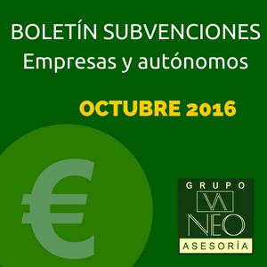 Subvenciones empresas y autónomos Andalucía | OCTUBRE 2016