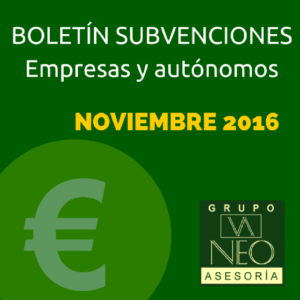 Subvenciones empresas y autónomos Andalucía | NOVIEMBRE 2016