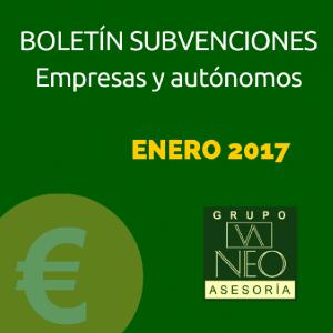 Subvenciones empresas y autónomos Andalucía | ENERO 2017