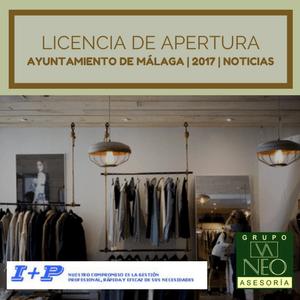 Noticias: Licencia de apertura Ayuntamiento de Málaga 2017