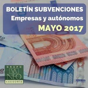 Subvenciones empresas y autónomos Andalucía | MAYO 2017