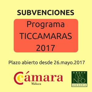 Subvención TIC 2017 de la Cámara de Comercio de Málaga