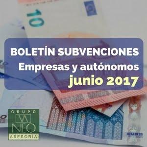 Subvenciones empresas y autónomos Andalucía | JUNIO 2017