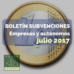 Subvenciones empresas y autónomos Andalucía | JULIO 2017