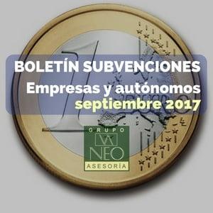 Subvenciones empresas y autónomos Andalucía | SEPTIEMBRE 2017