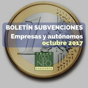 Subvenciones empresas y autónomos Andalucía | OCTUBRE 2017