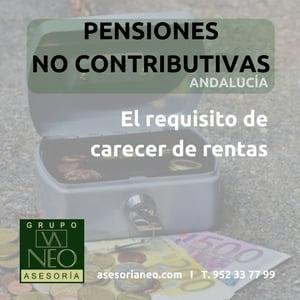 Carencia de rentas en las pensiones no contributivas 2017