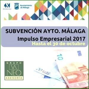Ayudas Impulso Empresarial 2017 Ayuntamiento de Málaga