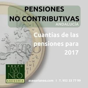 Cuantía pensiones no contributivas 2017