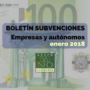 Subvenciones empresas y autónomos Andalucía | ENERO 2018