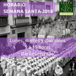 Horario Semana Santa 2018