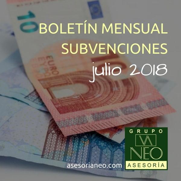 Subvenciones empresas y autónomos Andalucía | JULIO 2018