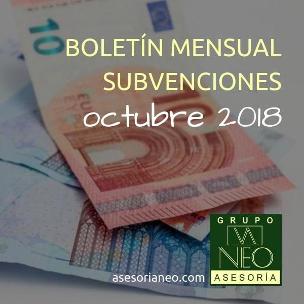 Subvenciones empresas y autónomos Andalucía | OCTUBRE 2018