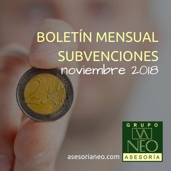 Subvenciones empresas y autónomos Andalucía | NOVIEMBRE 2018