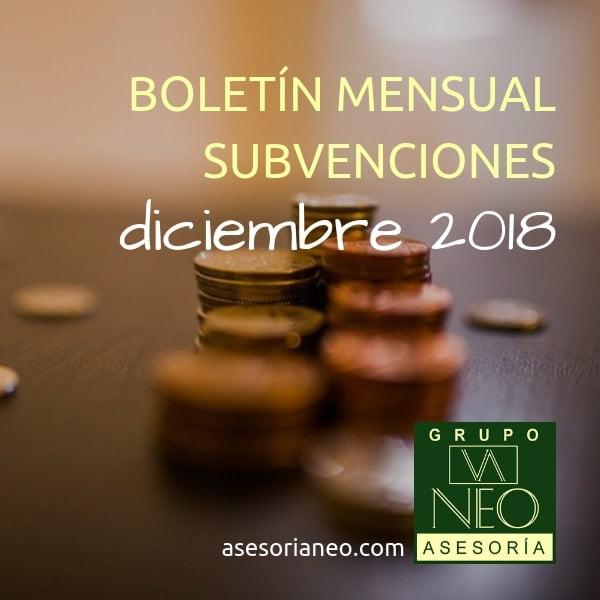 Subvenciones empresas y autónomos Andalucía | DICIEMBRE 2018