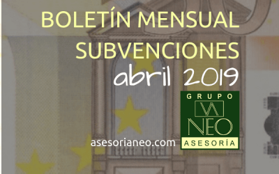 Boletín subvenciones Andalucía | ABRIL 2019