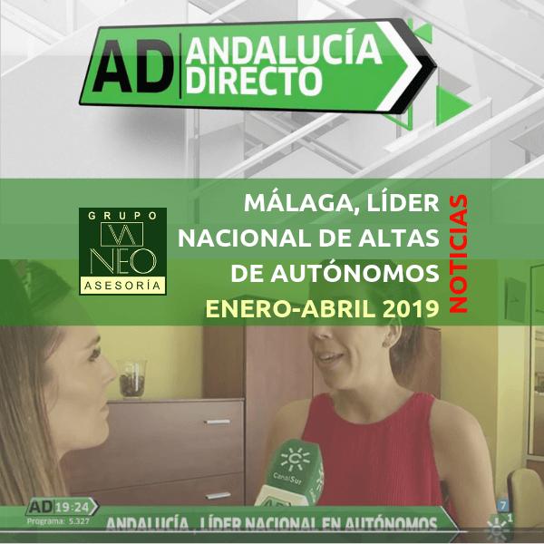 NOTICIAS: Málaga, la provincia española con más altas de autónomos (AD – Canal Sur)