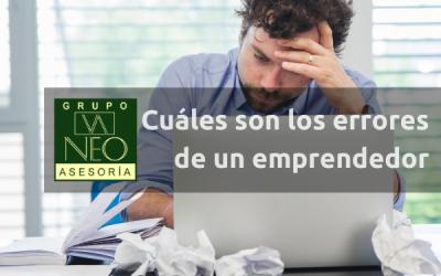 Cuáles son los errores de un emprendedor