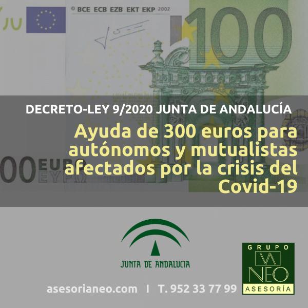 Ayuda de 300 euros para autónomos en Andalucía (COVID-19)