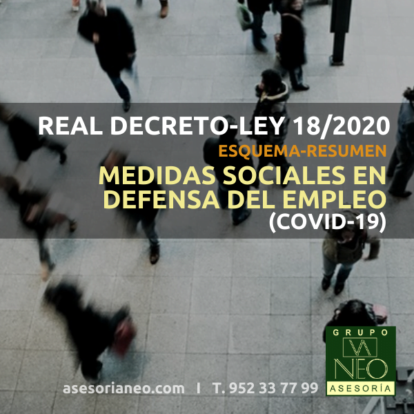 Real Decreto-ley 18/2020, de medidas sociales en defensa del empleo