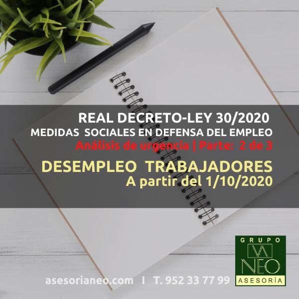 desempleo-trabajadores-covid-octubre-2020-real-decreto-ley-30-2020
