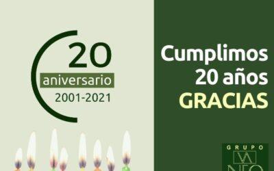 Cumplimos 20 años: GRACIAS