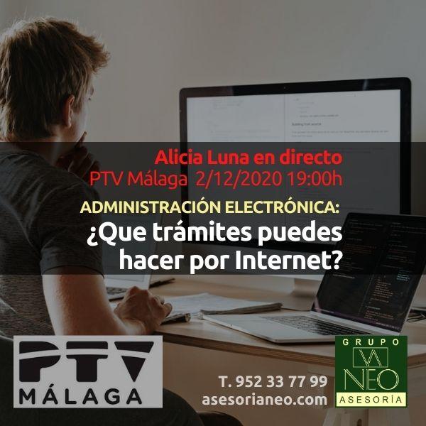 Alicia Luna en PTV Málaga: Trámites por Internet