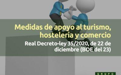 Resumen medidas de apoyo al turismo, hostelería y comercio (Real Decreto-ley 35/2020)
