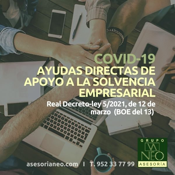 Ayudas directas de apoyo a la solvencia empresarial (RDLey 5/2021)