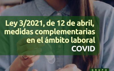 COVID Medidas laborales complementarias (Ley 3/2021)