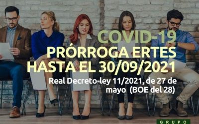 Prórroga ERTES hasta el 30 septiembre 2021 (RDLey 11/2021)