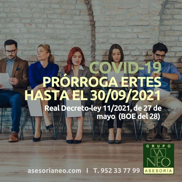 Prórroga ERTES hasta el 30 de septiembre de 2021